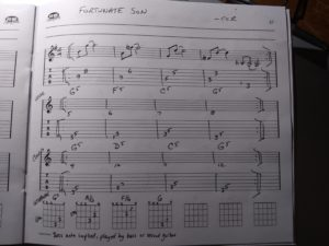 guitar tabs chords Fortunate Son CCR